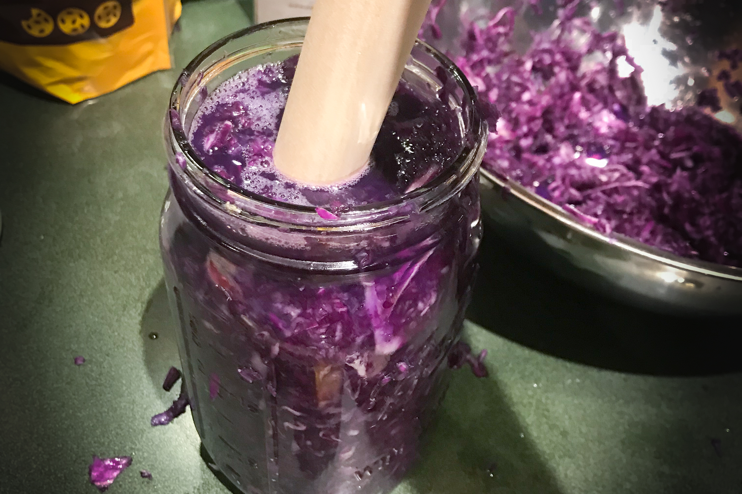 canning-jar-with-purple-cabbage-inside